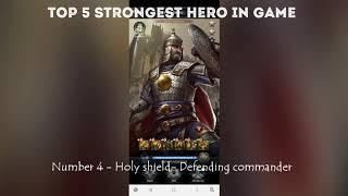 Clash of kings |Top 5 Strongest Hero in Game with Best Equipment Set |Countdown Begins |Gamerz forum screenshot 4