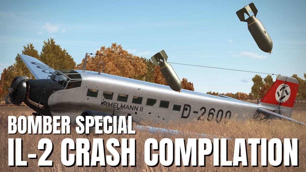 BOMBER SPECIAL - Explosions, Takedowns & More! V165 | IL-2 Sturmovik Flight Simulator Crashes