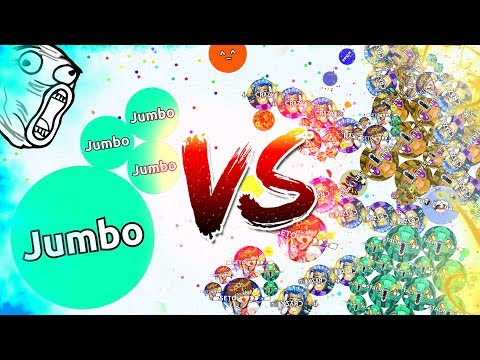 1 VS 1000 PLAYERS IN AGARIO ( CRAZY )