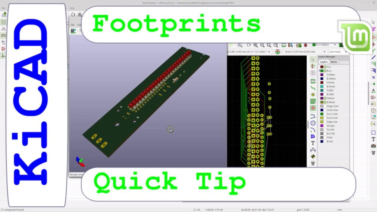 Kicad 6 Quick Tip, asigning Footprints - Tip for us noobs