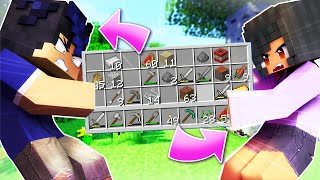Minecraft BUT We Share ONE INVENTORY!