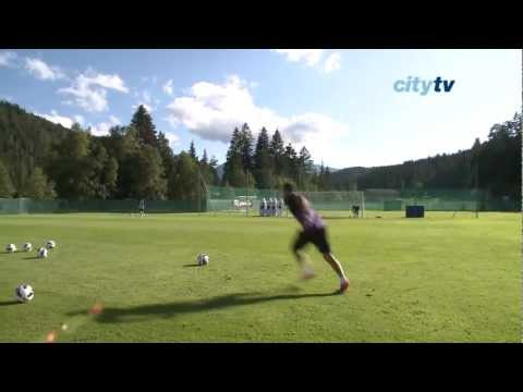 TRAINING Aleks Kolarov shooting and free kick practice