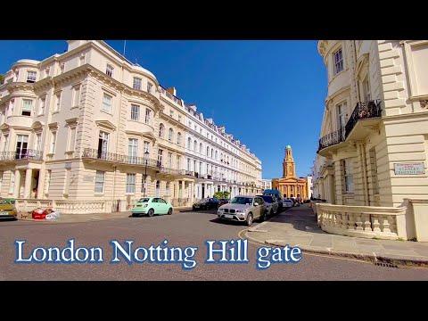 NOTTING hill Gate NEIGHBOURHOOD - 4k London Walk In 2020