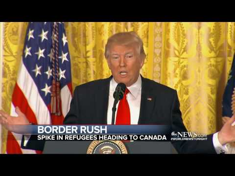 Spike in immigrants illegally crossing Canadian border