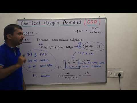 Chemical Oxygen Demand [ C.O.D. ] & COD Calculation / COD Of Waste Water