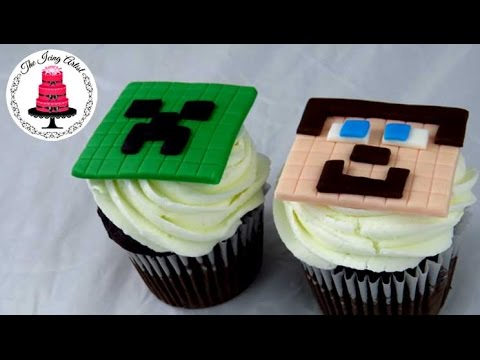Steve Creeper Minecraft Cupcakes How To With The Icing Artist Youtube
