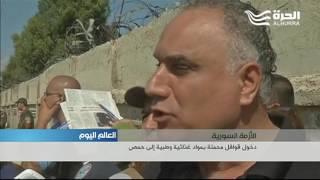 قصف متواصل في حلب وريفها، مسلحو الوعر إلى خارج حمص، و مساعدات إلى ريف دمشق
