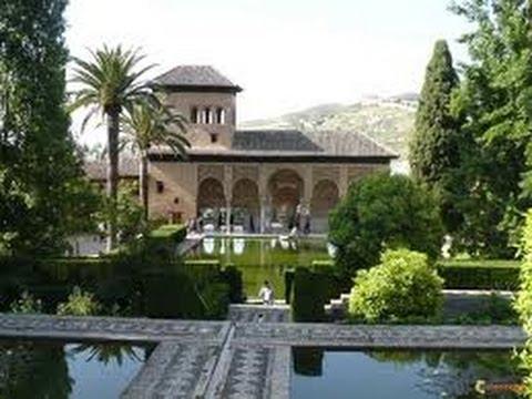 Espagne andalousie palais et jardins de l 39 alhambra a for Jardin a dessiner