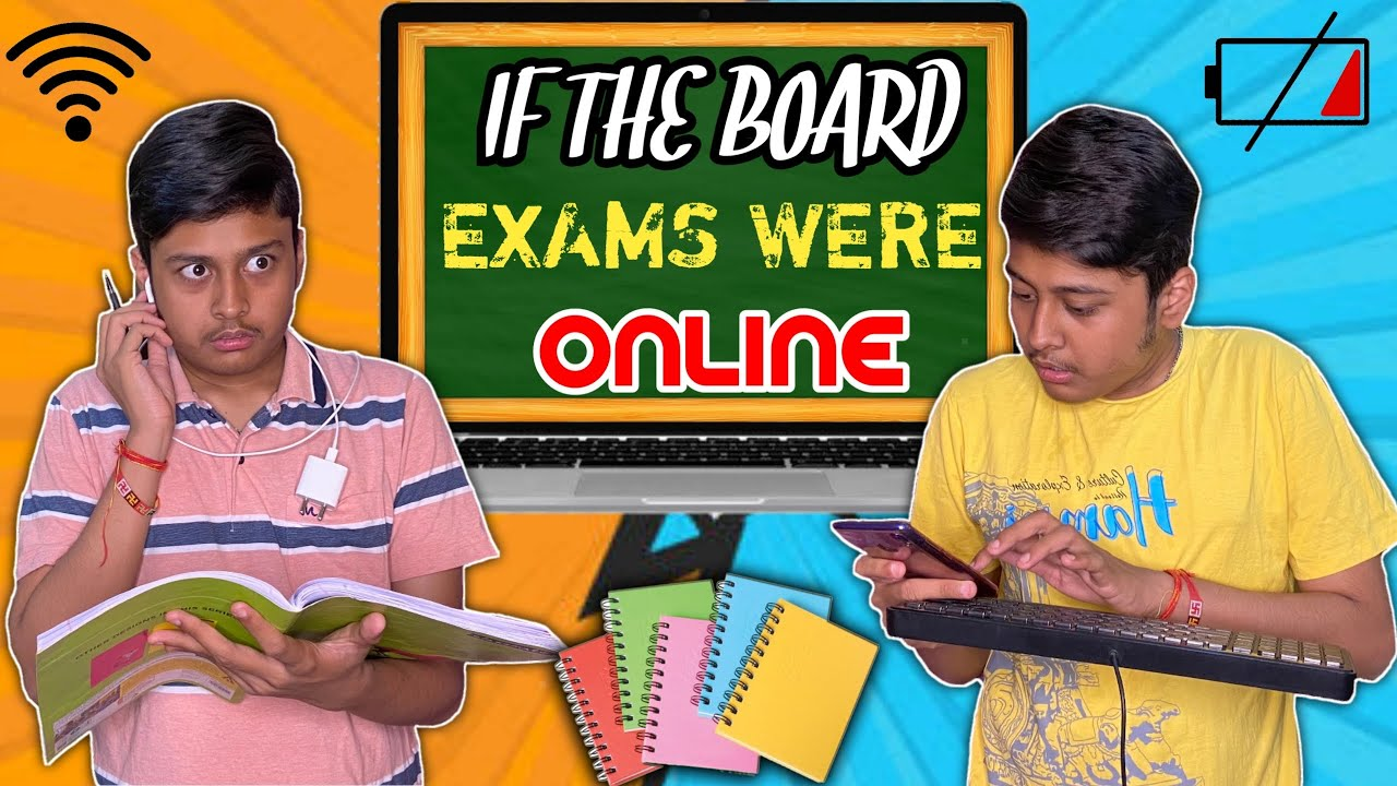 If The Board Exams Were Online | Comedy Video | Laugh With Harsh | #OnlineExams