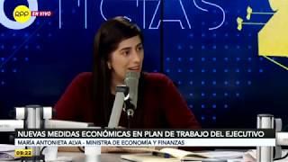 Entrevista a la ministra de Economía y Finanzas, María Antonieta Alva (RPP TV)