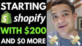 ► How To Start Dropshipping WITH ONLY $200 (Without Investing A $1 More) On Shopify