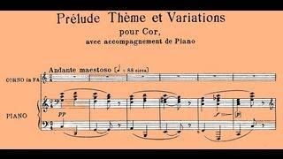 Rossini: Prélude, Thème et Variations pour cor avec accompagnement de piano