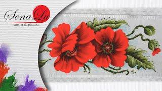 Papoulas Vermelhas em Tecido – Sonalupinturas