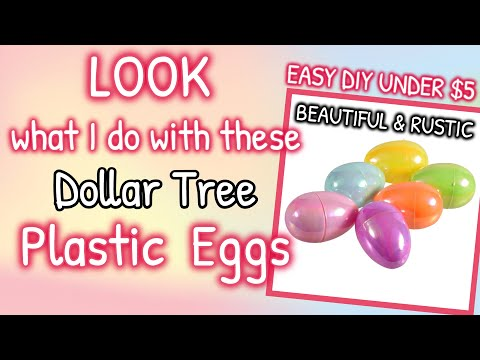 LOOK What I Do With These Dollar Tree PLASTIC EGGS | EASY DIY UNDER $5