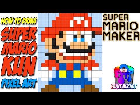 How To Draw Super Mario Kun Super Mario Maker 8 Bit Pixel