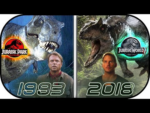 Download Youtube: EVOLUTION of Jurassic Park MOVIES (1993-2018) History of jurassic world 2 fallen kingdom