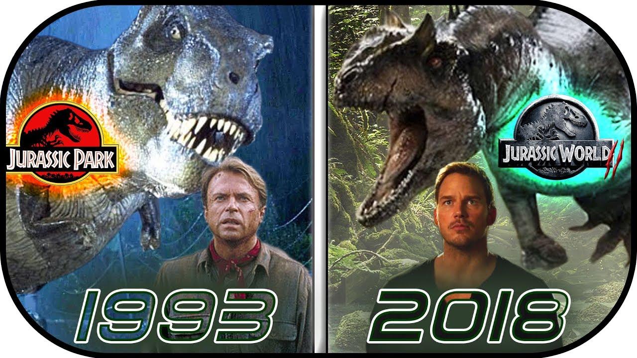Evolution Of Jurassic Park Movies 1993 2018 Vfx Online