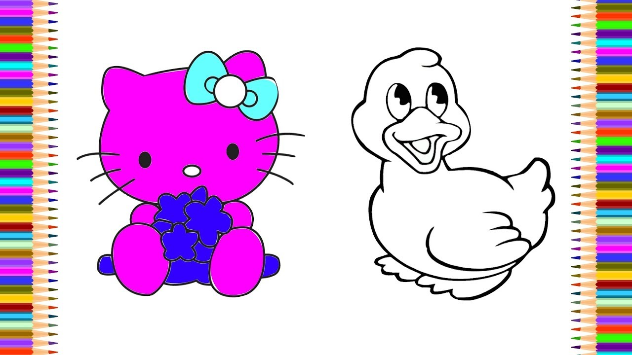 4764af257bba Hello Kitty Colouring Pages For Toddlers