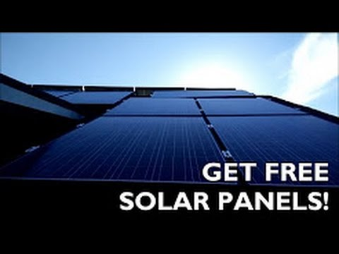 how to get free solar panels for your home http