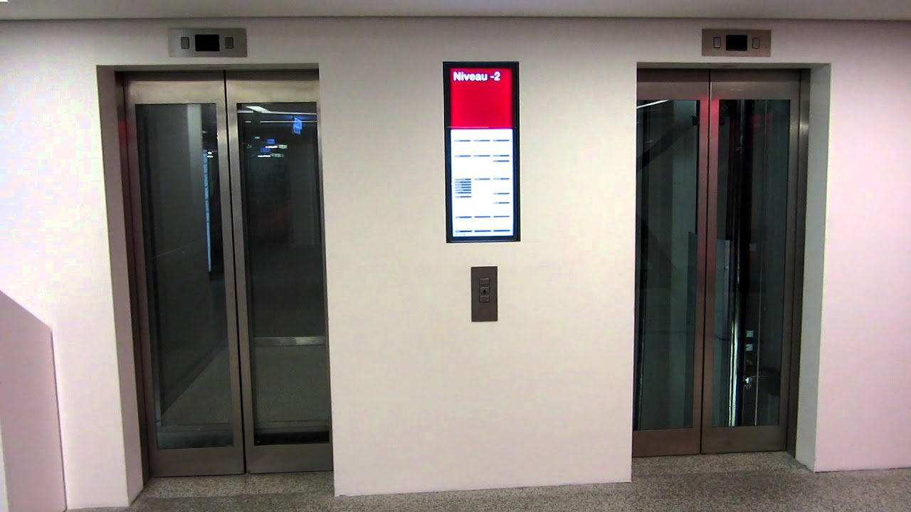 Shopping mall Schindler elevators - YouTube