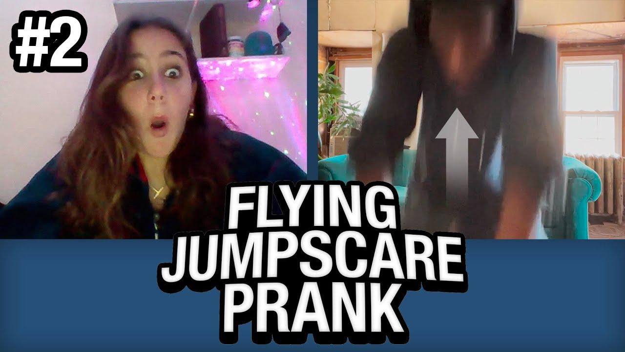 Flying JUMPSCARE PRANK on Omegle #2!