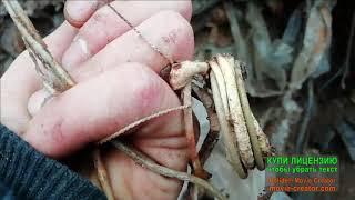 Металло коп на свалке  медные змеи!Коп зимой