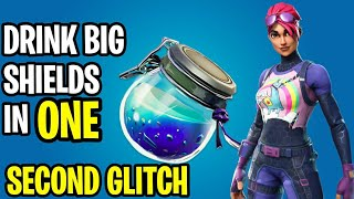 *NEW* Drink A 50 Shield In 1 Second Glitch! - Fortnite Battle Royale Drink Big Shields In 1 Second!