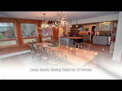 9 Best Large Dining Table Ideas for 12 Person - Tablespedia