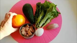 Салат с тунцом Фантастическое сочетание тунца с авокадо и апельсином