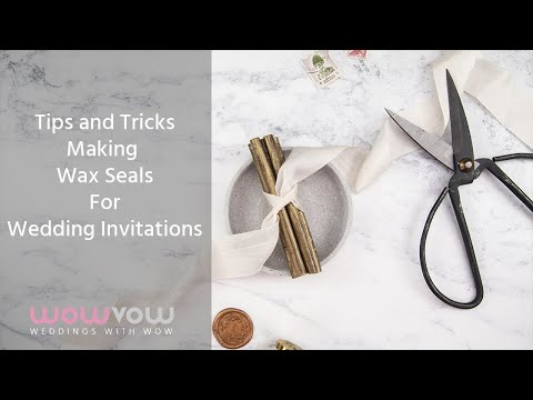 Making Wax Seals for your Wedding Invitations and Stationery