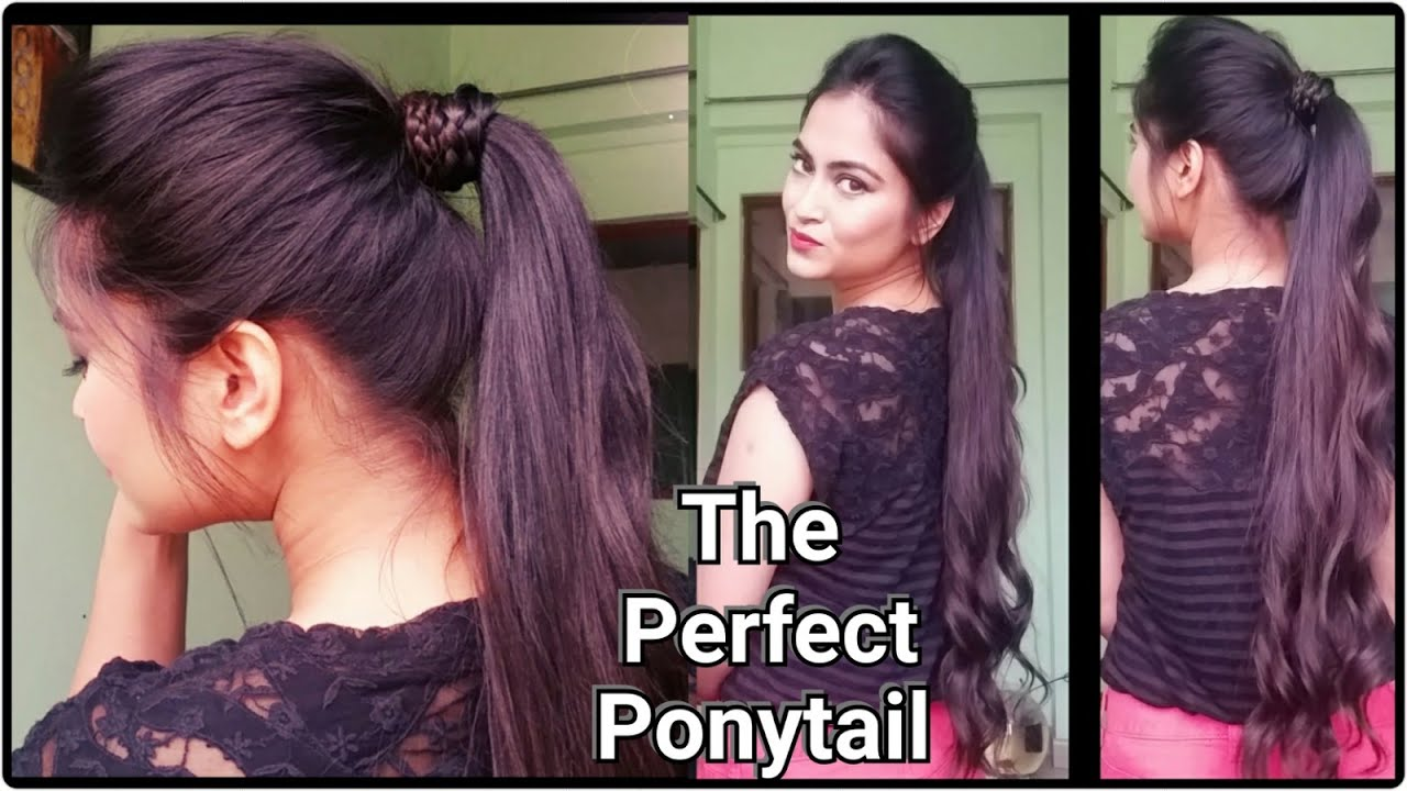 how to-the perfect ponytail without teasing/hairspray//easy indian hairstyles for medium/long hair