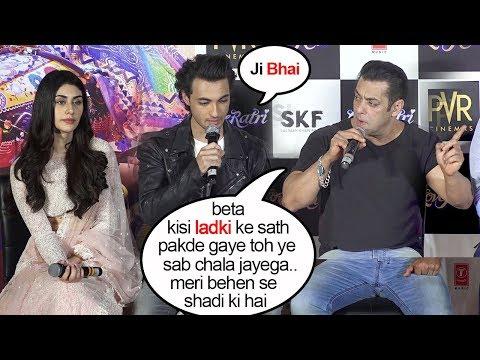 Salman Khan Openly WARNS Ayyush Sharma To Be Loyal To His Sister Arpita Khan In Public