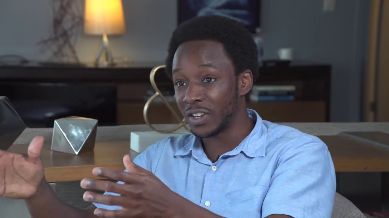 Image from Demba Ba interviewed at O'Reilly JupyterCon