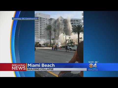 One Hurt In Miami Beach Building Collapse