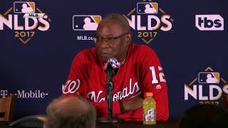 Dusty Baker speaks before Game 4 of NLDS