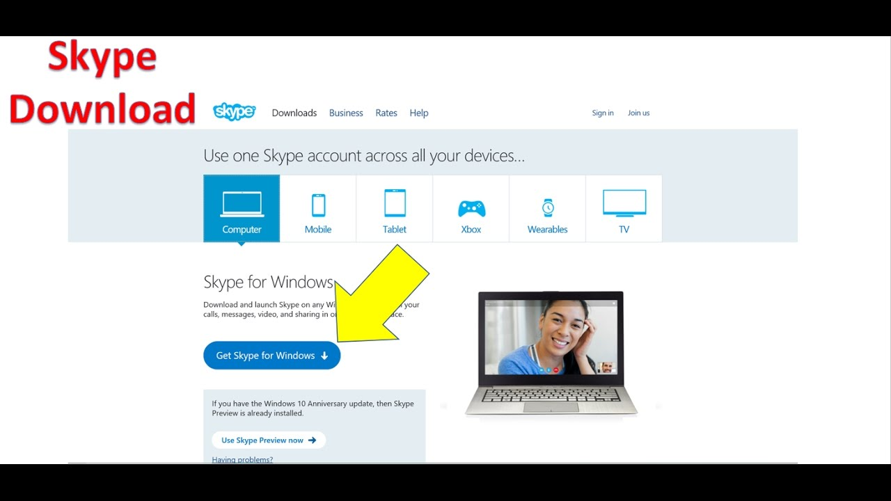skype for pc download windows 10