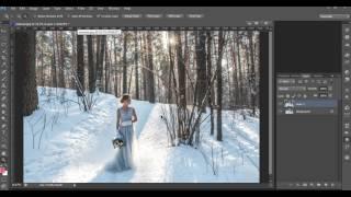 Как наложить снег на фото в фотошопе