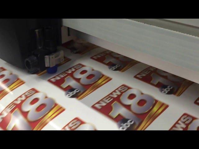 Print and custom contour cut WXOW Labels