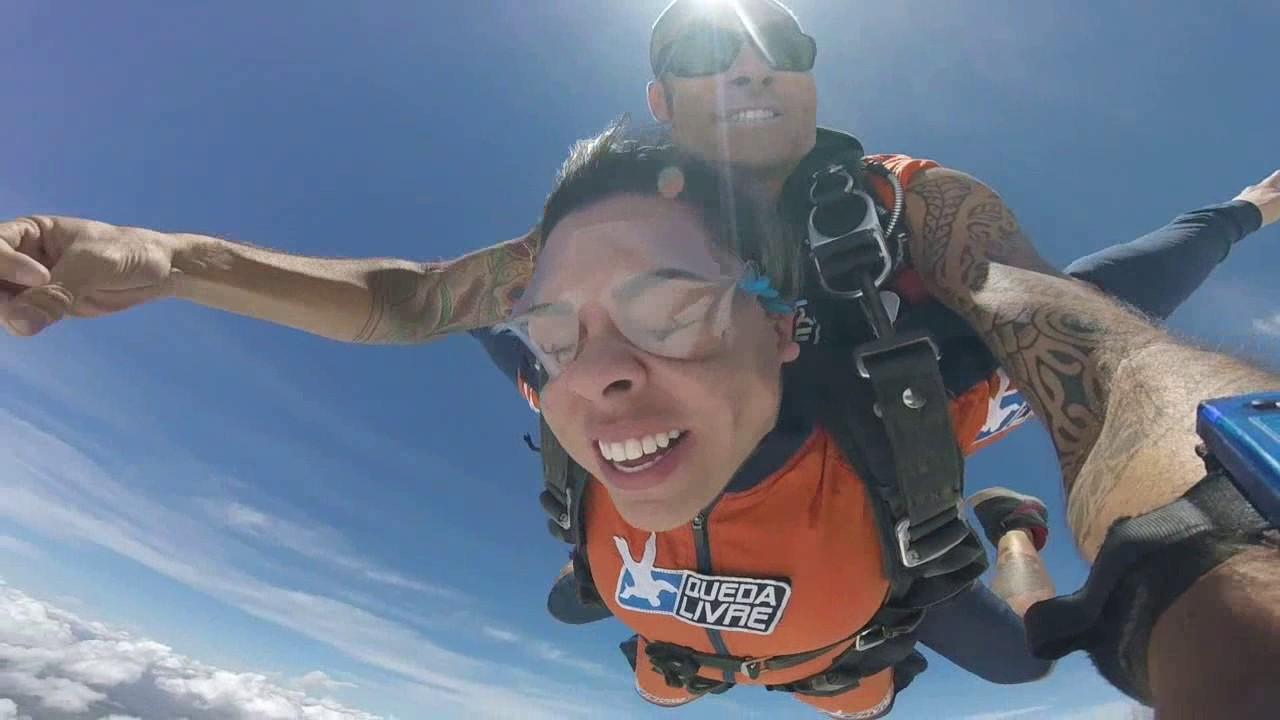 Salto de Paraquedas da Natalie na Queda Livre Parequedismo 08 01 2017