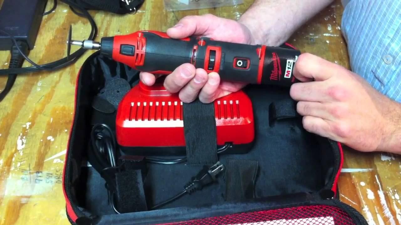 Milwaukee 2460 21 M12 Rotary Tool Review Youtube