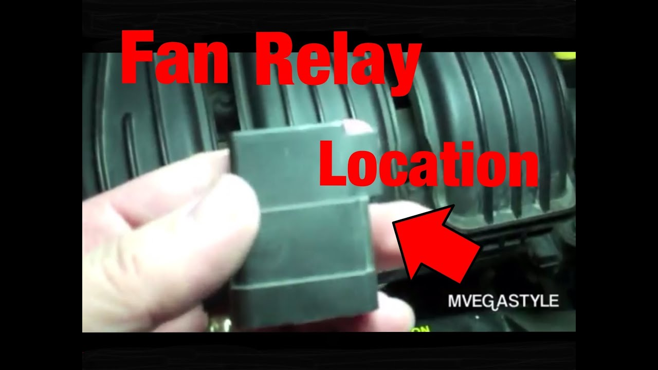 2008 PT Cruiser Fan Relay Location  YouTube