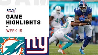 Dolphins vs. Giants Week 15 Highlights | NFL 2019
