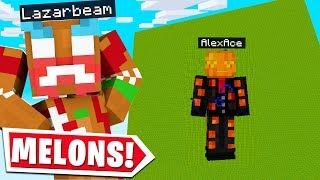I BUILT THE WORLDS LARGEST WATERMELON ON LAZARBEAMS MINECRAFT SERVER..