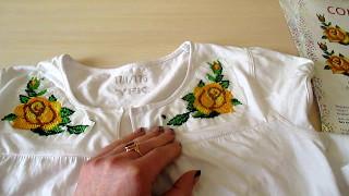 Вышивка на водорастворимом флизелине. Embroidery on water-soluble fleece.