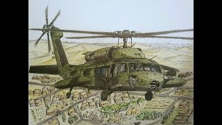 How to Draw a UH-60 Blackhawk