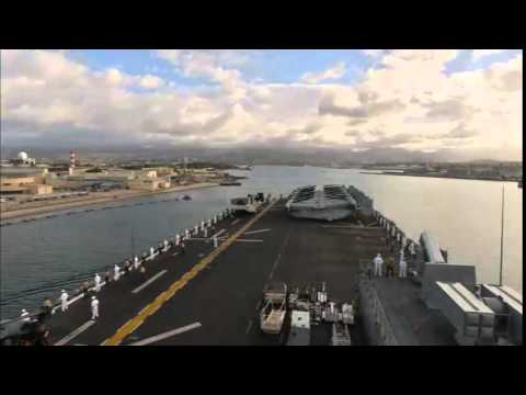 USS Makin Island Pulls Into Pearl Harbor