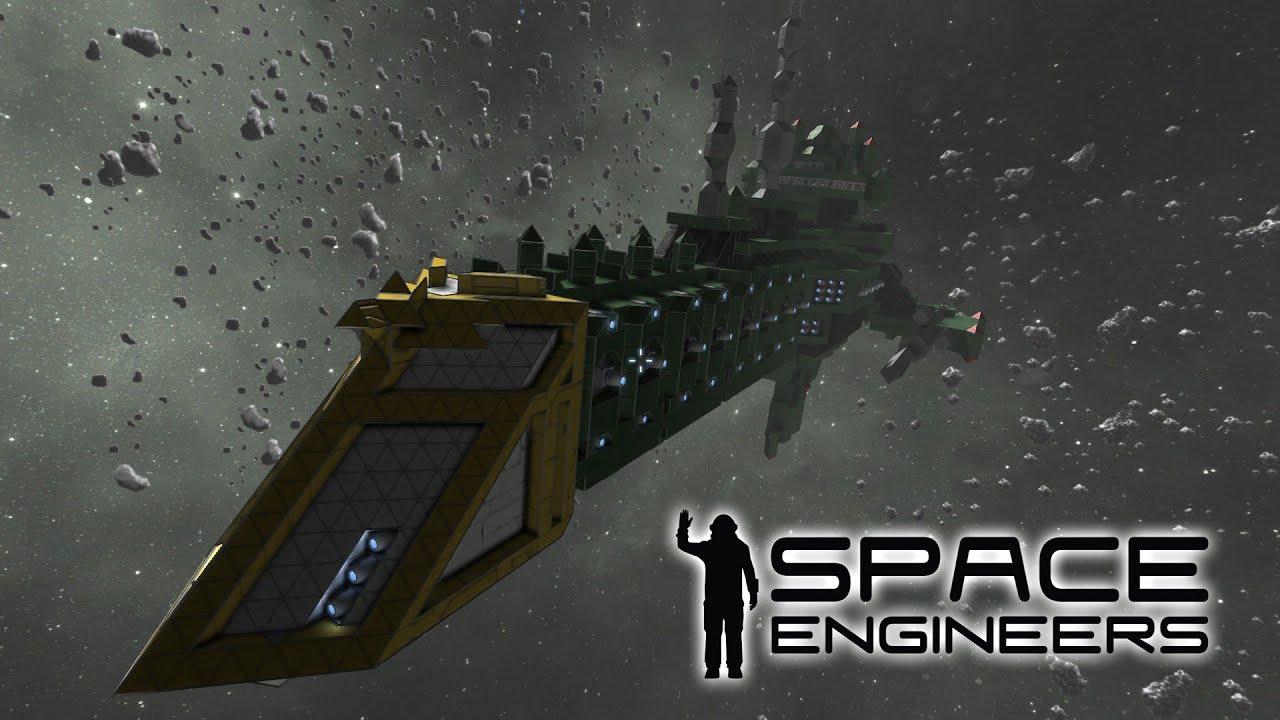 Space Engineers Stargate Vs Warhammer 40k Ship Youtube