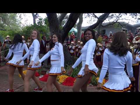 trojancandy.com: Enjoy Watching the 1st USC Band and USC Song Girl's Pep Rally