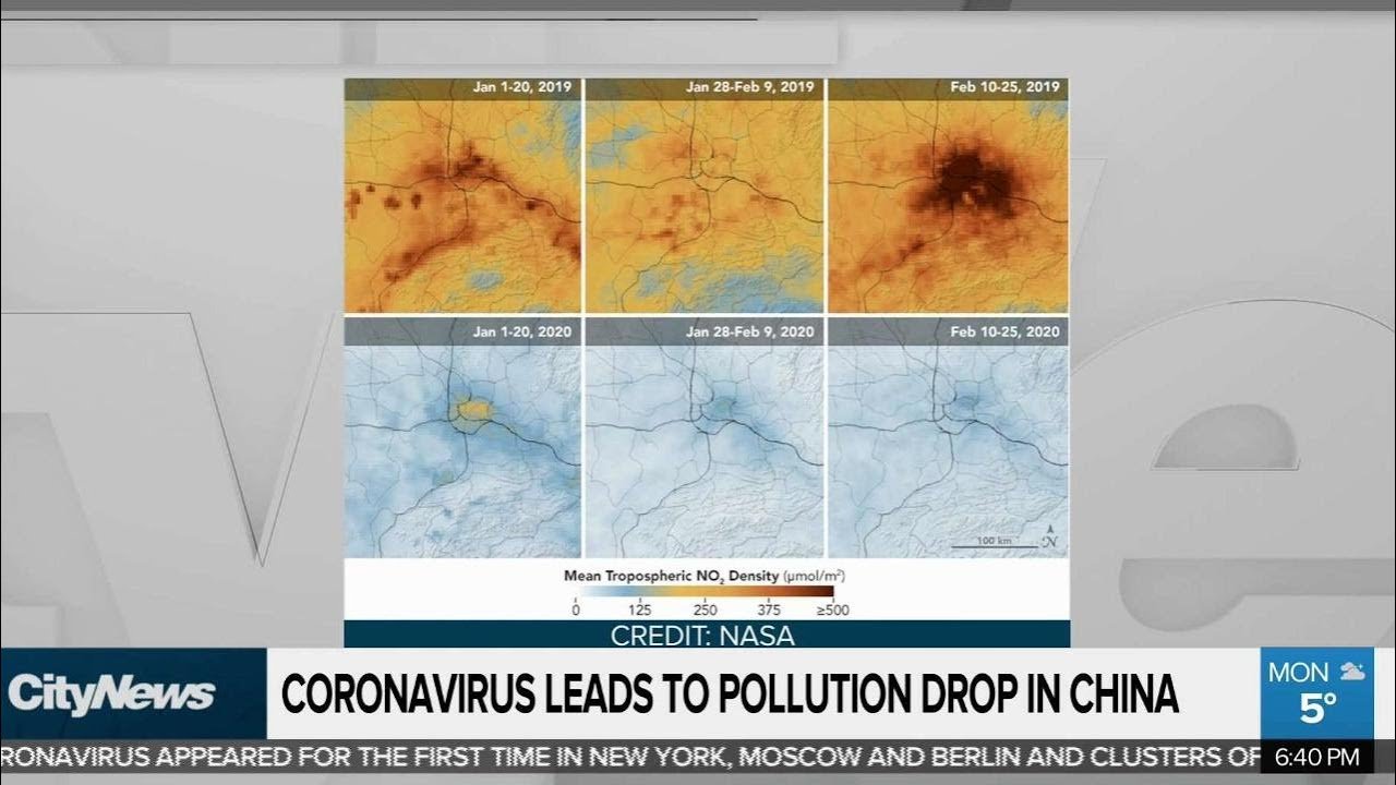 Coronavirus leads to pollution level drop in China - YouTube