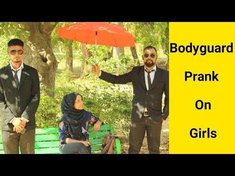 Bodyguard Prank On Girls  Pranks In India  Crispy Prank TV